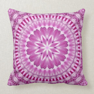 Flower Petals Mandala Throw Pillow