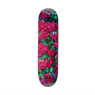 Flower photo painting skateboard deck