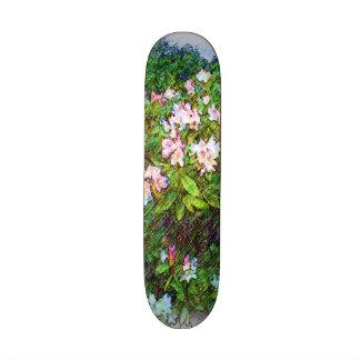 Flower photo painting skateboard