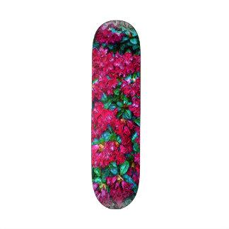 Flower photo painting skateboards