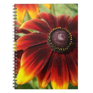 Flower Photo Yellow Brown Notebook