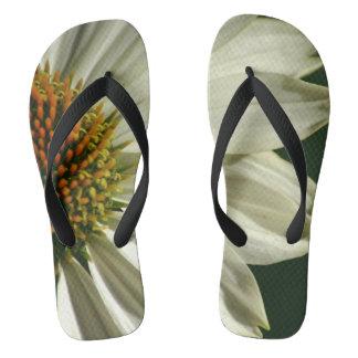 Flower Photograph On Flip Flops