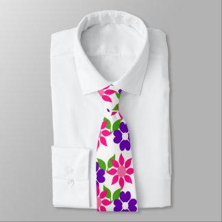 Flower picture tie