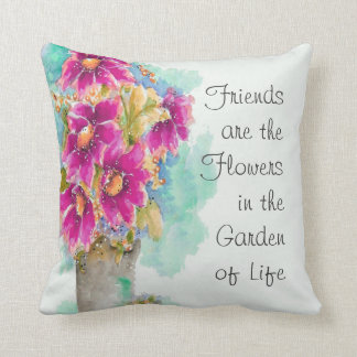 Flower Pillow with Saying