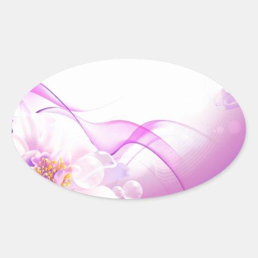 Flower-Pink-Background-Vector-Art DIGITAL REALISM Sticker