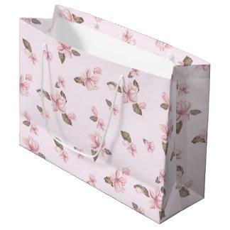FLOWER PINK CARTOON  Gift Bag - Large