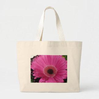 flower,pink gerber daisy tote bag