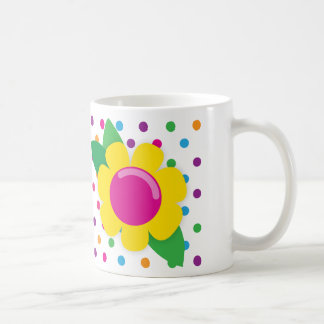 Flower & Polka Dots Coffee Mug