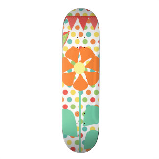 Flower Polka Dots Paisley Spring Whimsical Gifts Skate Board Deck