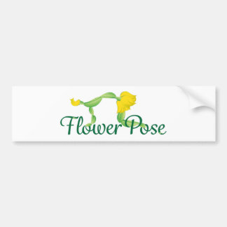 Flower Pose Logo Bumper Sticker