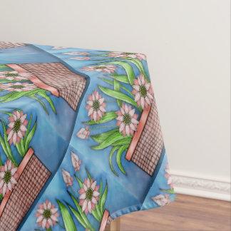 Flower Pot Color Design Tablecloth
