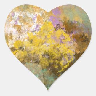 Flower Pot Heart Sticker
