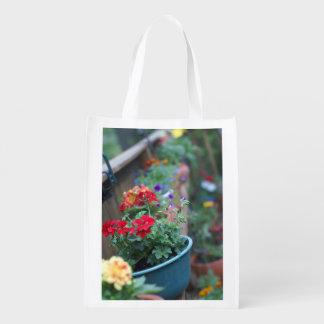flower pot store bag grocery bag