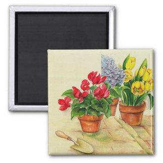 Flower pots, magnet