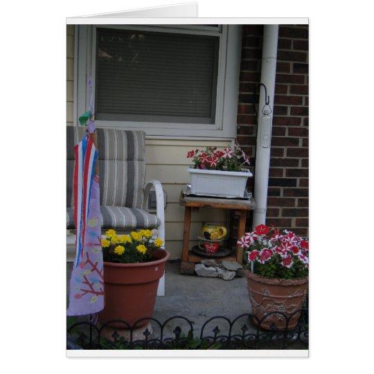 Flower Pots, Porches & Fireflies Card