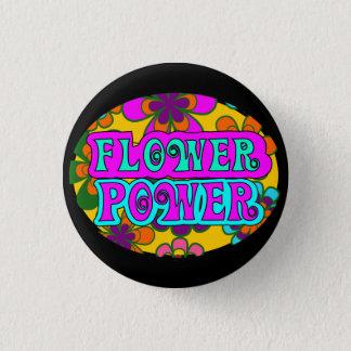 flower power 1 inch round button