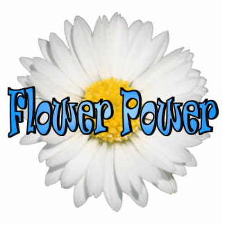 Flower Power 1 Keychain Photo Sculpture Keychain