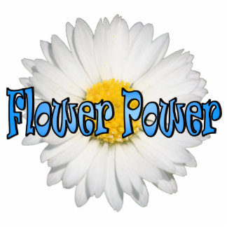 Flower Power 1 Pin Photo Sculpture Button