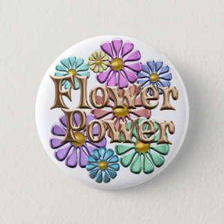 Flower Power 2 Inch Round Button