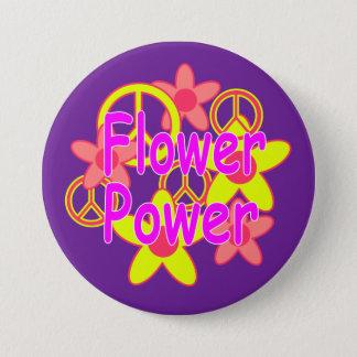 Flower Power 3 Inch Round Button