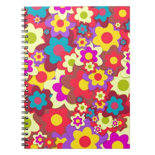 Flower Power 60s hippy Notebook