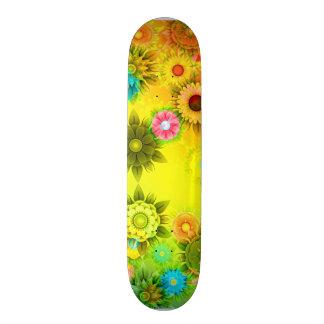 Flower Power art Skateboard for girls