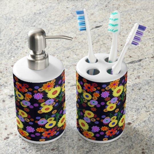 Flower Power Bathroom Set