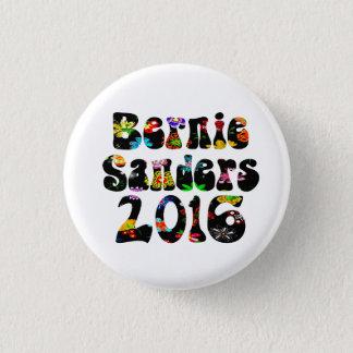 Flower Power Bernie Sanders 2016 1 Inch Round Button