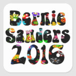 Flower Power Bernie Sanders 2016 Square Sticker
