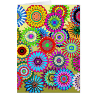 Flower Power Blank Card