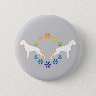 Flower power boxer 2 inch round button