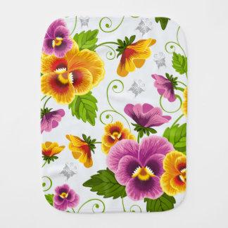 Flower Power Burp Cloth