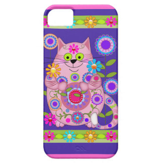 Flower Power Cat Case For The iPhone 5