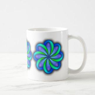 flower power ceramic mug 11oz basic white mug
