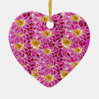 flower power ceramic ornament