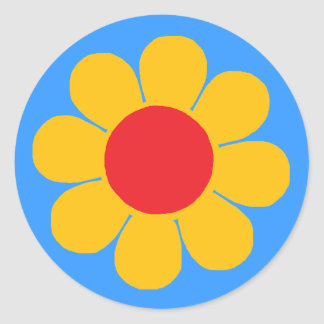 Flower Power Classic Round Sticker