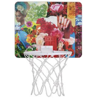 Flower Power Collage Mini Basketball Backboard