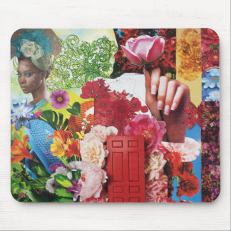 Flower Power Collage Mouse Pad