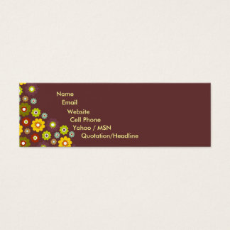 Flower Power Contact Card