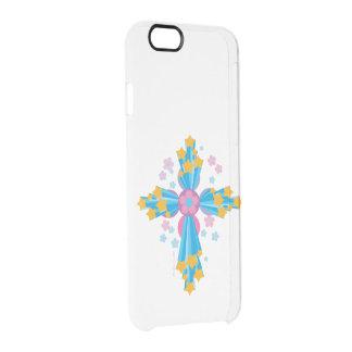 Flower Power Cross Clear iPhone 6/6S Case
