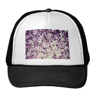 Flower power dans l'art violet et floral de minuit casquette de camionneur