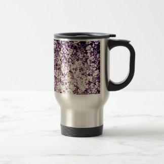 Flower power dans l'art violet et floral de minuit mug à café