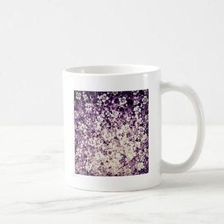 Flower power dans l'art violet et floral de minuit tasses à café