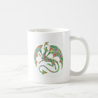 flower power dragon mug