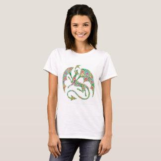 flower-power dragon t-shirt