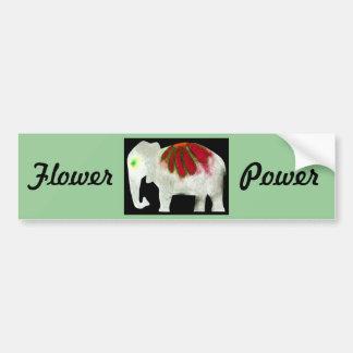 Flower Power Elephant Bumper Sticker