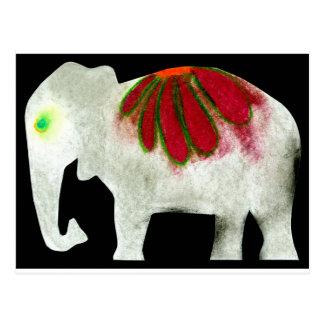 Flower Power Elephant Postcard
