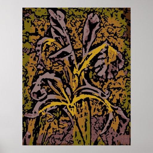 Flower power en lavande posters