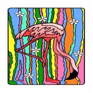 Flower-Power Flamingo Photo Cut Out