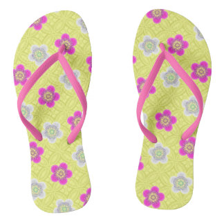 Flower Power Flip Flops